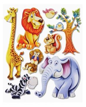 3d wandsticker wandtattoo afrika tiere ii l we elefant affe giraffe kinderzimmer ebay. Black Bedroom Furniture Sets. Home Design Ideas