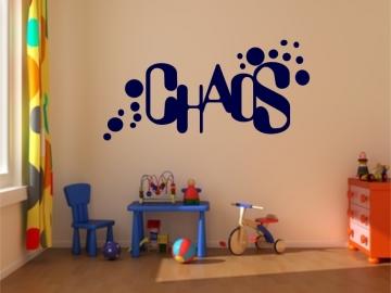 chaos wandtattoo f r kinderzimmer aufkleber wandaufkleber sticker funtattoo neu wadersloh. Black Bedroom Furniture Sets. Home Design Ideas