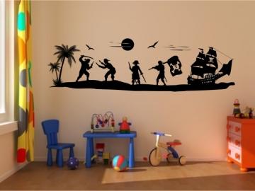 wandtattoo pirateninsel wandtattoo piraten wandtattoo. Black Bedroom Furniture Sets. Home Design Ideas