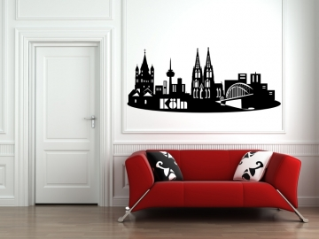 wandtattoo skyline wandtattoo stadt wandaufkleber wandtattoo wohnzimmer. Black Bedroom Furniture Sets. Home Design Ideas