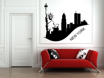 wandtattoo skyline wandtattoo stadt wandaufkleber new york wandtattoo wohnzimmer. Black Bedroom Furniture Sets. Home Design Ideas