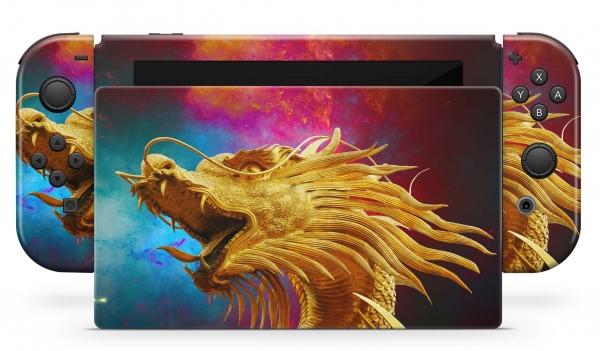 Nintendo Switch Skins Aufkleber Design Schutzfolie Set China Dragon