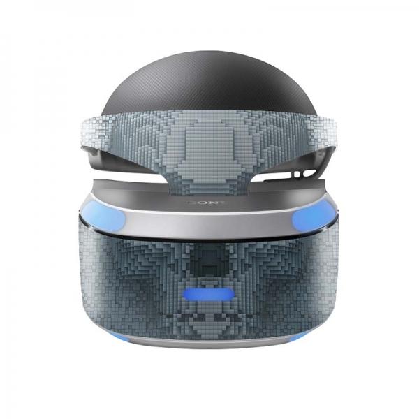 Sony Playstation VR Skin PS4 Design Aufkleber Pixel Skull