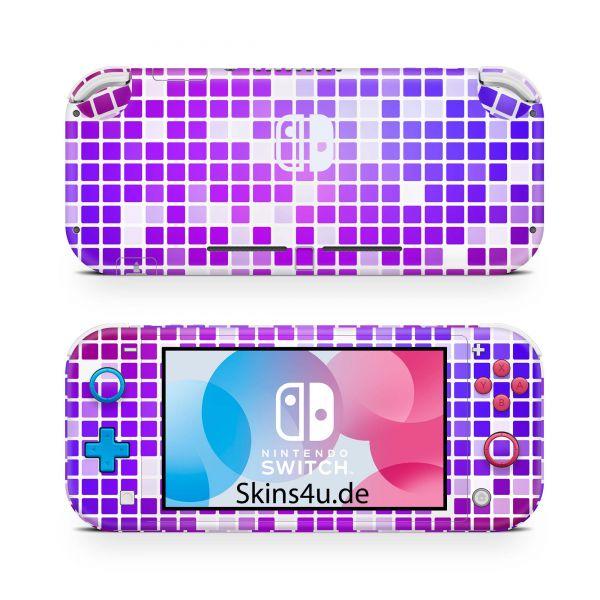 Nintendo Switch Lite Front & Back Skin Aufkleber Schutzfolie blooming orchid 05