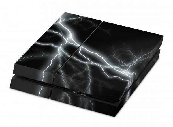Playstation 4 Skin Designfolie Sticker Set PS4 Motiv - Apocalypse Black