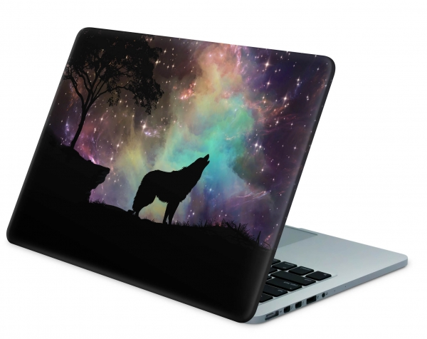 MacBook Pro 13 Modell A1989 Skin Aufkleber Decal Cover Howling to the stars