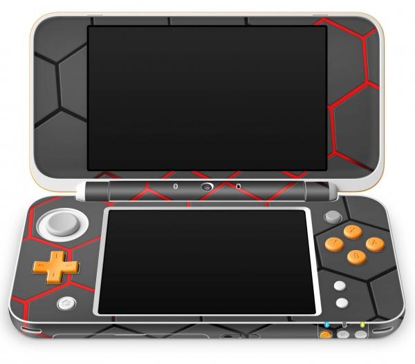 Nintendo 2DS XL Skin Aufkleber Design Schutzfolie Exo Red