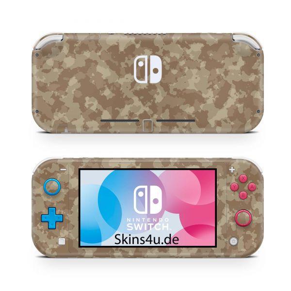 Nintendo Switch Lite Front & Back Skin Aufkleber Schutzfolie Sand Camo