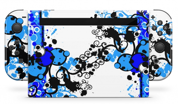 Nintendo Switch Skins Aufkleber Design Schutzfolie Set Simple Blue