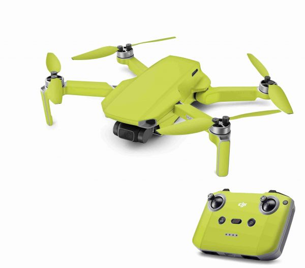 DJI Mavic Mini 2 Skin Aufkleber Wraps Skins Design Folie Solid state Lime