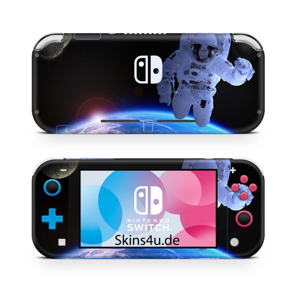 Nintendo Switch Lite Front & Back Skin Aufkleber Schutzfolie Astronaut