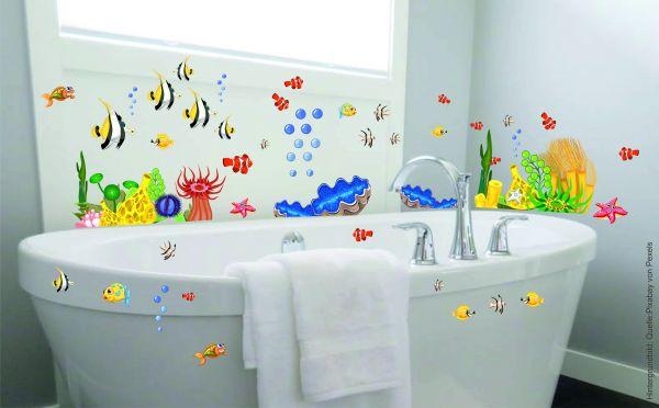 Wandtattoo Kinderzimmer Fische Badezimmer Unterwasserwelt Meerestiere