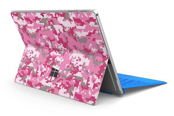 Microsoft Surface Pro 7 Skin Premium Aufkleber Schutzfolie digital lady camo