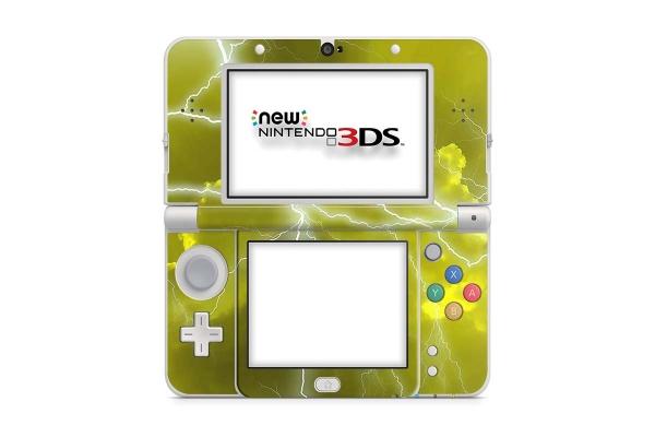Nintendo NEW 3DS Skin Aufkleber Schutzfolie Apocalypse Yellow