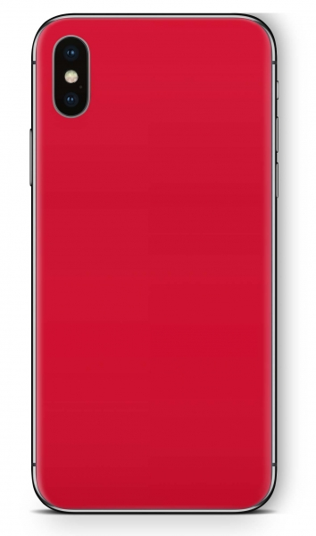 Apple iPhone XR Skin Aufkleber Design Schutzfolie Solid State Red