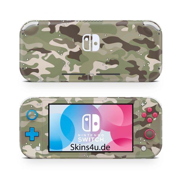 Nintendo Switch Lite Front & Back Skin Aufkleber Schutzfolie FC Camo