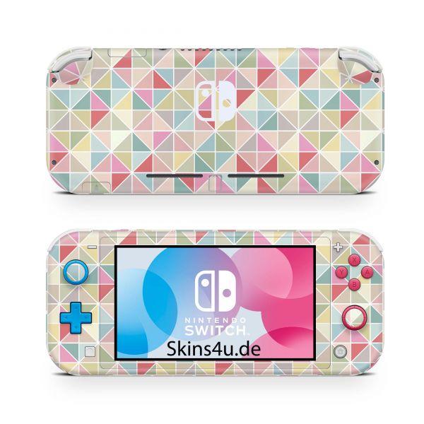 Nintendo Switch Lite Front & Back Skin Aufkleber Schutzfolie Polygon prw9