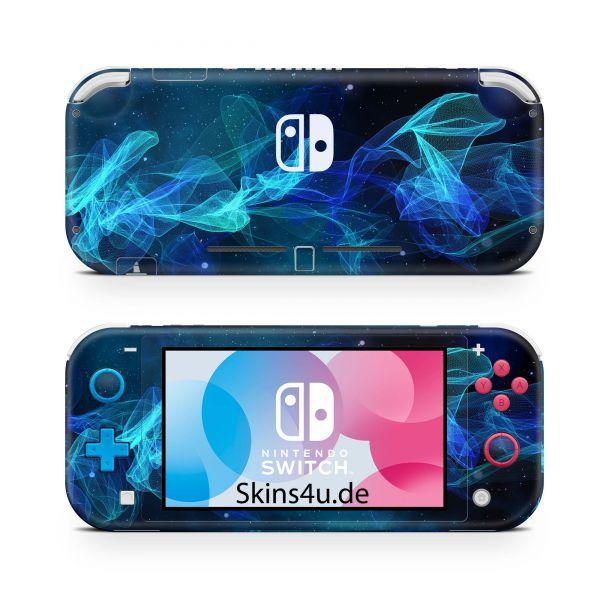 Nintendo Switch Lite Front & Back Skin Aufkleber Schutzfolie Star Spiral