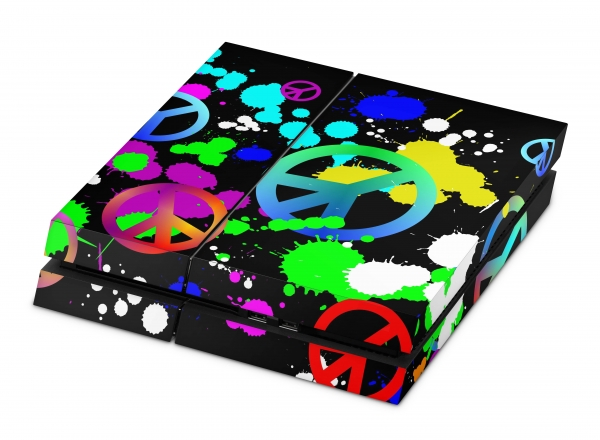 Playstation 4 Skin Designfolie Sticker Set PS4 Motiv - Unity Peace