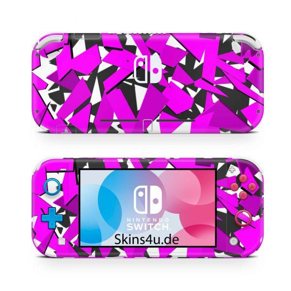 Nintendo Switch Lite Front & Back Skin Aufkleber Schutzfolie Signal pink