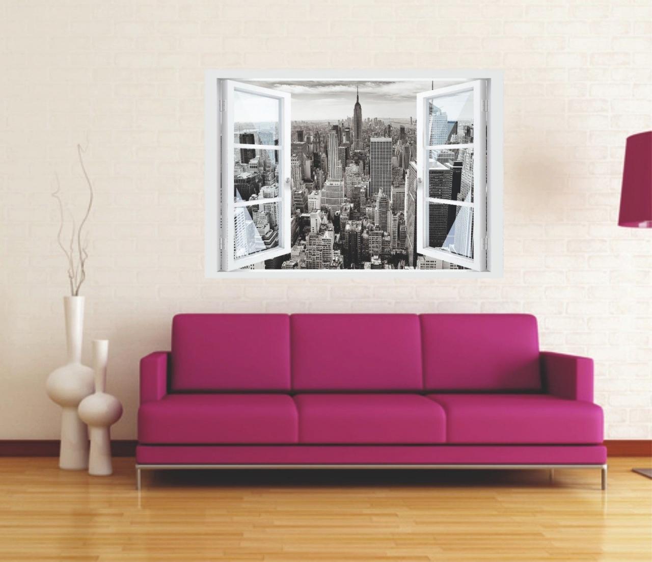 Wunderbar Wandtattoo New York Das Beste Von Fenster 3d Optik Wandsticker Aufkleber Deko Bild