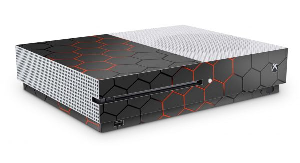 Xbox One S Skin Aufkleber Design Schutzfolie Exo Red