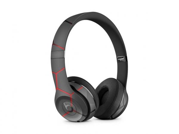 Beats Solo 2 Wireless Skin Design Aufkleber Schutzfolie Exo red
