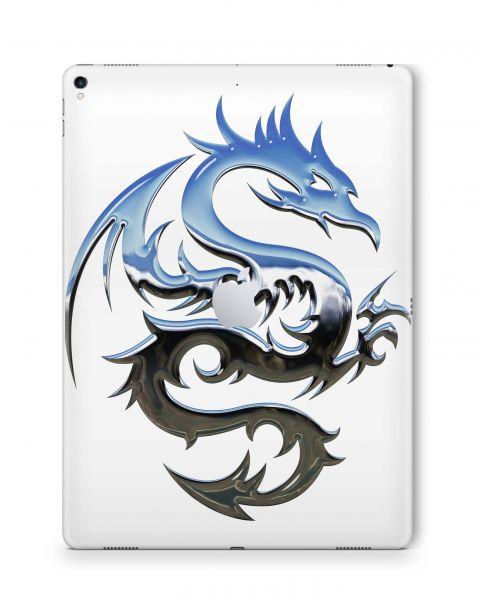 Apple iPad Air Skin 3.Generation Skin Aufkleber Schutzfolie Chrome Dragon white
