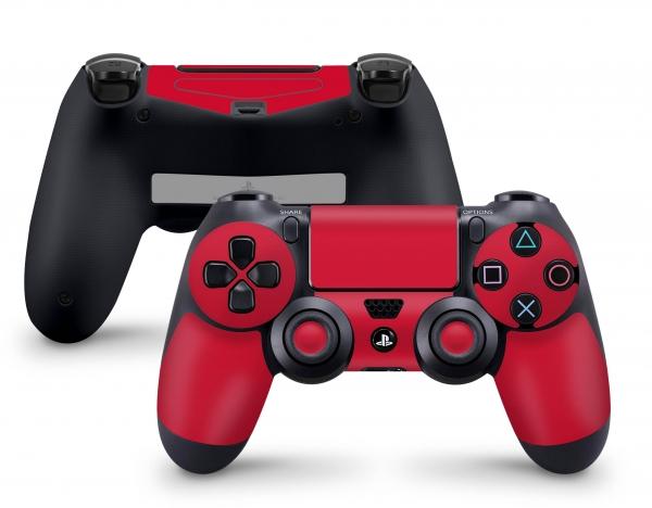 PLaystation 4 PS4 Controller Skin Design Aufkleber Design Solid State rot