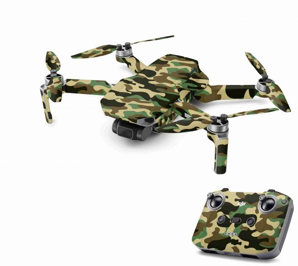 DJI Mavic Mini 2 Skin Aufkleber Wraps Skins Design Folie wood camo