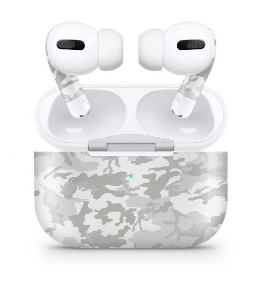Apple AirPods Pro Skin Aufkleber Design Vinyl Skins Schutzfolie White Camo