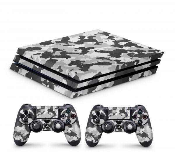 Playstation 4 Pro Skin Aufkleber + PS4 Controller Skins Urban Camo new