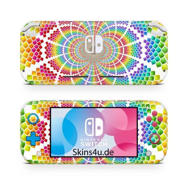 Nintendo Switch Lite Front & Back Skin Aufkleber Schutzfolie Colorfull explosion