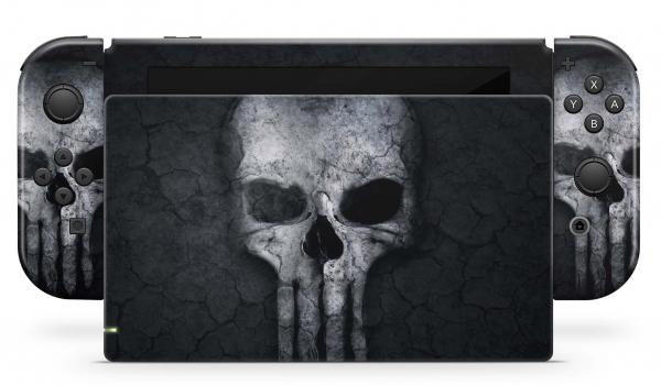 Nintendo Switch Skins Aufkleber Design Schutzfolie Set Hard Skull