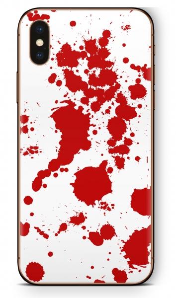 Apple iPhone XS MAX Skin Aufkleber Design Schutzfolie Blood