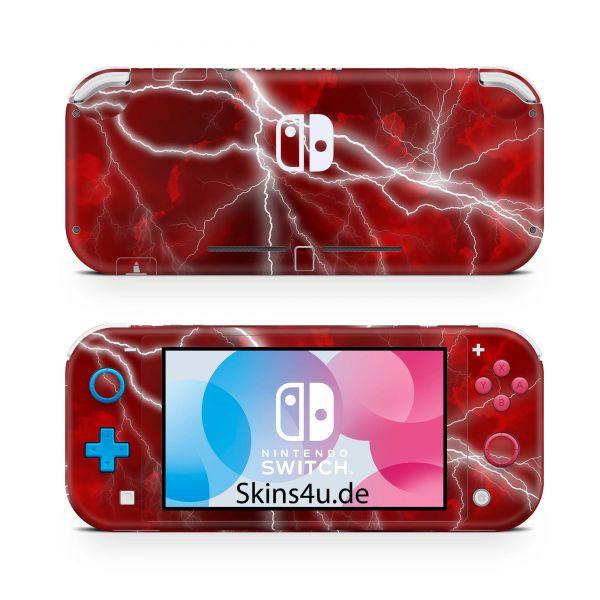 Nintendo Switch Lite Front & Back Skin Aufkleber Schutzfolie Apocalypse Red