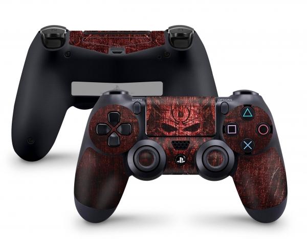 PLaystation 4 PS4 Controller Skin Design Aufkleber Design Red Demon