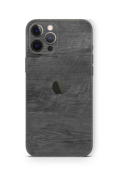 iPhone 12 mini Skin Schutzfolie Design Wrapping Black Woodgrain
