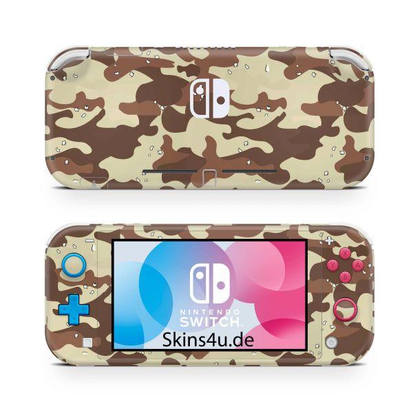 Nintendo Switch Lite Front & Back Skin Aufkleber Schutzfolie Desert Camo