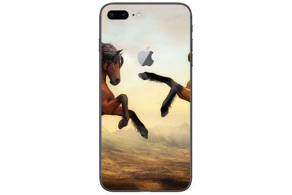 Apple iPhone 8 Aufkleber Designfolie - zwei-pferde