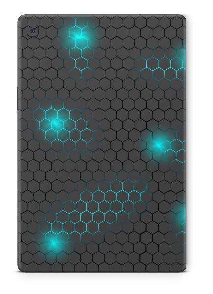 Samsung Galaxy Tab A7 Skin Design Schutzfolie Cover Aufkleber Exo small blue