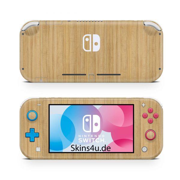 Nintendo Switch Lite Front & Back Skin Aufkleber Schutzfolie Eiche
