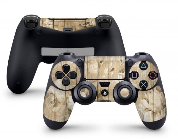 PLaystation 4 PS4 Controller Skin Design Aufkleber Design Roses on Wood