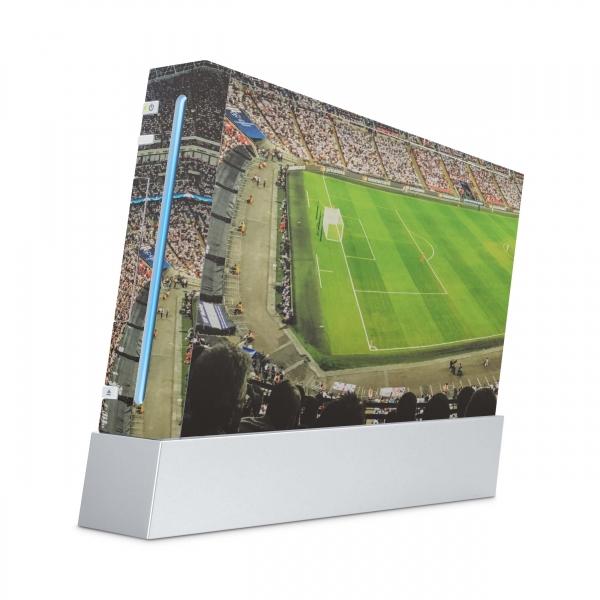 Nintendo Wii Konsolen Skin Aufkleber Design Schutzfolie Fussball Stadion