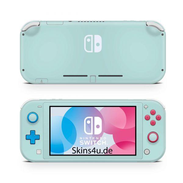 Nintendo Switch Lite Front & Back Skin Aufkleber Schutzfolie Solid state mint