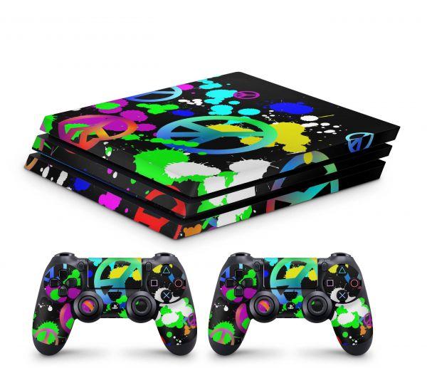Playstation 4 Pro Skin Aufkleber + PS4 Controller Skins Unity