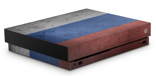 Xbox One X Schutzfolie Skin Aufkleber Design - Russland