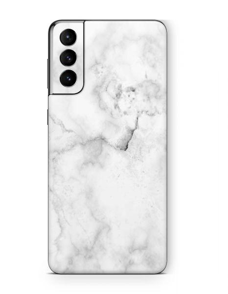 Samsung Galaxy S21+ Skin Aufkleber Design Cover Schutzfolie Marmor weiss