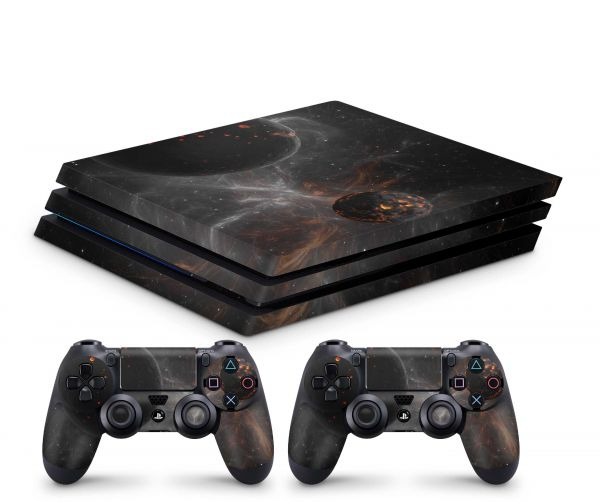 Playstation 4 Pro Skin Aufkleber + PS4 Controller Skins Astronomy