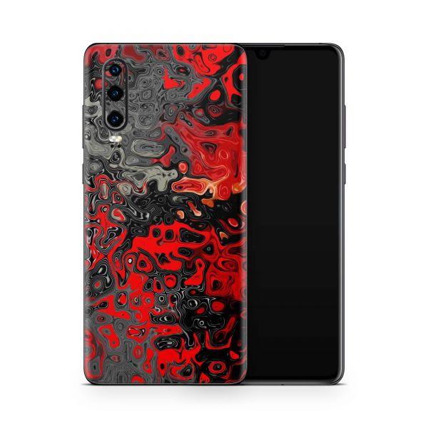 Huawei P40 Skin Design Handy Schutzfolie Cover Red Plasma